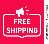 free shipping. badge with... | Shutterstock .eps vector #526144066