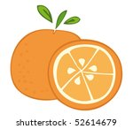 orange fruit. | Shutterstock .eps vector #52614679
