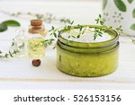 Green Jar Of Sea Salt ...