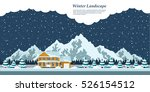 picture of winter landscape... | Shutterstock .eps vector #526154512