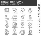 set of thin line flat icons.... | Shutterstock .eps vector #526154752