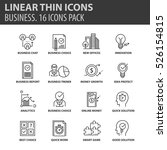 set of thin line flat icons.... | Shutterstock .eps vector #526154815