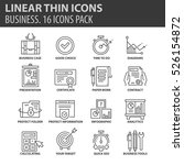 set of thin line flat icons.... | Shutterstock .eps vector #526154872