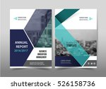 vector blue annual report... | Shutterstock .eps vector #526158736