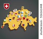 vector map of switzerland with... | Shutterstock .eps vector #526161448