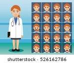 hospital staff pretty doctor... | Shutterstock .eps vector #526162786