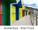 Colorful Beach Huts At Barry...