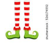 elf legs in green shoes... | Shutterstock .eps vector #526174552