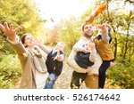 beautiful young family on a... | Shutterstock . vector #526174642