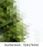 abstract mosaic triangular... | Shutterstock .eps vector #526176262