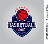 basketball club logo. modern... | Shutterstock .eps vector #526181962