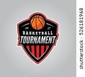 basketball tournament logo....   Shutterstock .eps vector #526181968