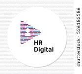 hr digital media logo template. ... | Shutterstock .eps vector #526182586