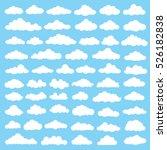 cloud icon set clean vector | Shutterstock .eps vector #526182838