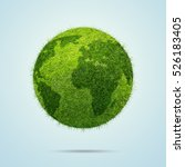 world globe shape of green...