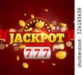 jackpot 777 gambling poster... | Shutterstock .eps vector #526185658