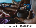 people practicing yoga and... | Shutterstock . vector #526189336