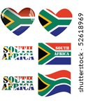 south africa flag colored...   Shutterstock .eps vector #52618969