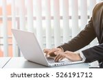 working on laptop  close up of... | Shutterstock . vector #526191712