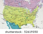north america chart | Shutterstock . vector #52619350