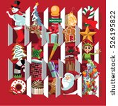 countdown to christmas advent... | Shutterstock .eps vector #526195822