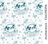 panda astronaut and cosmos... | Shutterstock .eps vector #526198396