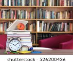 books decoration for library... | Shutterstock . vector #526200436