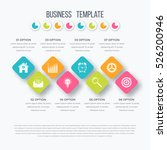 vector square infographics with ... | Shutterstock .eps vector #526200946