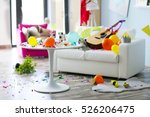 after party interior chaos | Shutterstock . vector #526206475