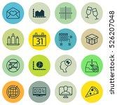 set of 16 universal editable... | Shutterstock .eps vector #526207048
