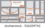 design web banners of different ... | Shutterstock .eps vector #526209742