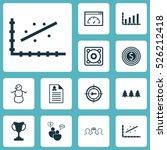 set of 12 universal editable... | Shutterstock .eps vector #526212418