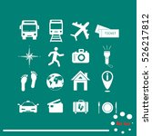 traveling and transport icons... | Shutterstock .eps vector #526217812