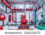 red generator pump for water... | Shutterstock . vector #526223272