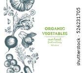 organic food card design.... | Shutterstock .eps vector #526231705