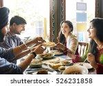 indian food eating cuisine... | Shutterstock . vector #526231858