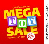 mega toy sale christmas special ...   Shutterstock .eps vector #526239328