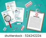 clipboard with hospitals agenda ... | Shutterstock . vector #526242226