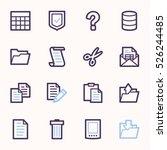 document web icons set | Shutterstock .eps vector #526244485