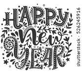 happy new year. hand drawn...   Shutterstock .eps vector #526245916