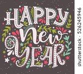 happy new year. hand drawn... | Shutterstock .eps vector #526245946