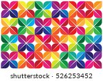 colorful leaves abstract... | Shutterstock .eps vector #526253452
