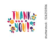 thank you  bright  juicy... | Shutterstock .eps vector #526253506