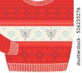 christmas ornamental card. ugly ... | Shutterstock .eps vector #526255276