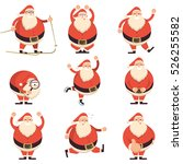 cartoon santa claus in various...   Shutterstock .eps vector #526255582