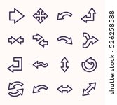 arrows web icons.  forward and... | Shutterstock .eps vector #526258588