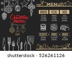 christmas restaurant brochure ... | Shutterstock .eps vector #526261126
