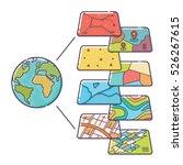 vector illustration of gis... | Shutterstock .eps vector #526267615