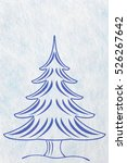 abstract christmas tree and... | Shutterstock . vector #526267642