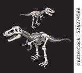 dinosaur skull typography  t... | Shutterstock .eps vector #526274566